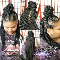 ✅✅Book: 2-10 Feed in braids with Medium individuals✅✅ ⠀ ⠀ ⠀ ⠀ CLICK THE LINK IN BIO OR BOOK NOW!! ⠀ ⠀ ⠀ ⠀ #Hairbylarose #Rockford #Rockfordstylist #LaRose #braid #braids #braidlife #Bob #bobboxbraids #BoxBraids #individuals #crochet #crochetbraids #feedinbraids #feederbraids #braidedponytail #weave #weaves #silkpress #kidsbraids #kidstyles #kidbraids #cornrows #Frenchbraids #springtwist