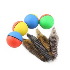 New Pet Toys Dog Cat Beaver Weasel Puppy Playing Rolling Jump Ball Toy Electric Nutria Moving Toy for Cat Dog
