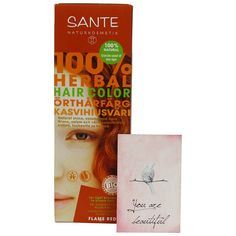 SANTE - Herbal Hair Color - Flame Red Copper - Free from peroxides