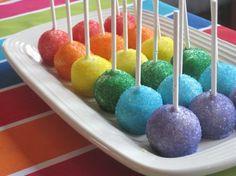 Rainbow cake pops by TNBrat