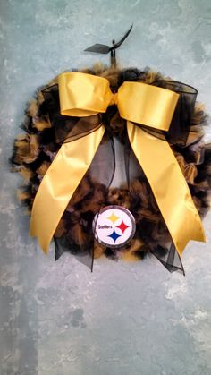 Pittsbugh Steelers custom order wreath I made for my sister-in-law.