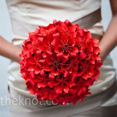 Alternative bouquet ideas - origami!