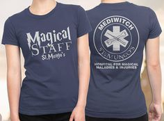 Mediwitch Shirt, FREE SHIPPING, Ladies Harry Potter Shirt, Nurse shirt, Harry Potter Shirt, medical student gift, Harry Potter Ladies If you lived in the Wizarding world would you work at St Mungos Hospital for Magical Maladies and Injuries? This is a perfect gift for someone who works in the medical field and who loves Harry Potter. This shirt is available in many colors (see below), but if you want to stay authentic, the mediwizards (or in this case the Mediwitches) or healers wore lime…