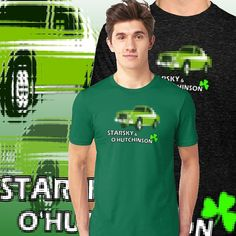 'Starsky & O'Hutchinson' T-Shirt by Irish-Nostalgia Ireland Holidays, Dont Drink And Drive, Tv Detectives, Irish American, Paddys Day, Cops, Shades Of Green, Have Fun, Nostalgia