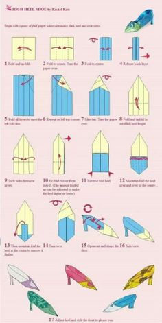 Origami Shoes Tutorial Angel The Gal Would Love This