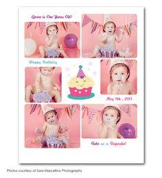 Cutie Cake Customized Photo Collage Digital Print 8x10