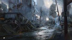 Aftermath, Titus Lunter on ArtStation at http://www.artstation.com/artwork/aftermath-f45a8a99-84ab-4643-99d1-b13ba3101588