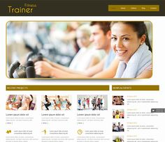 Find here some of the best Free & Premium Fitness & GYM website templates. This collection really help you to find a perfect fitness website template. Mobile Website Template, Html Website Templates, Web Themes, Website Design Inspiration, Personal Trainer, Gym Workouts, Trainers, Health Fitness, Website Designs