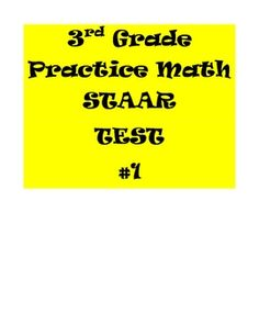 3rd Grade Math Practice STAAR Test #1 $