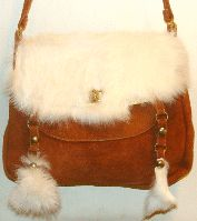 """Cotton Tail"" 2 tassel Suede Rabbit Hair purse, western purses, leather purse, western bags, rhinestone western purses, leather western wallets, western wallets, western purse"