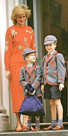 Princess Diana and Prince William and Prince Harry