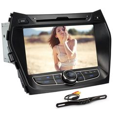 Generic 8 Inch In Dash Car DVD Player GPS Navigation Digital Touchscreen for IX45 with Rear Camera