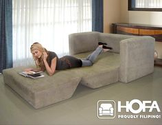 So many possibilities for a sofa bed like this...