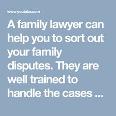 A family lawyer can help you to sort out your family disputes. They are well trained to handle the cases of child support, child custody, divorce and guardianship issues. They have experience of handling such cases. If you are having such issues, a help from a family lawyer from Edmonton can be taken.