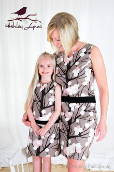Spring Buds Retro Shift Dress $56 ... love the matching mom and daughter dresses!