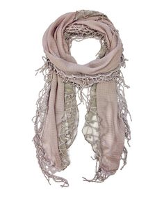 Look at this #zulilyfind! East Cloud Mauve Vine Embroidered Wool-Blend Scarf by East Cloud #zulilyfinds