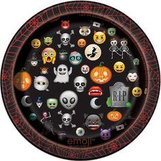 "7"" Emoji Halloween Party Plates, 8ct"