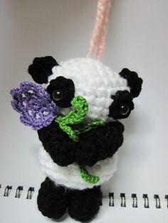Ravelry: Amigurumi Little Elms the Panda pattern by Sweet N' Cute Creations