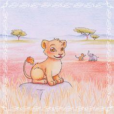 Eine #Illustration für #Kinder von Christina Busse www.christinabuss... für die #Kurzgeschichte 'Der kleine Löwe' von Silke Winter.