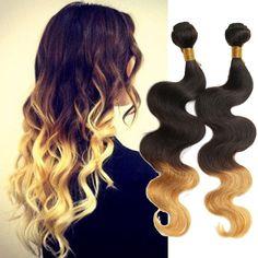 UK Local Sale! 1B/4/27# ,Human Hair, 2Bundles/100G 16 18  Human Hair Extensions
