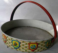 Vintage Toy Beach Sand Sifter Litho  Germany - would be great for sifting thru all that sand for those tiny shells!!!
