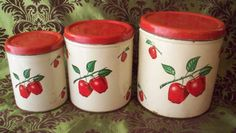 Decoware Apple Canister Set/i have the bread box & dust pan