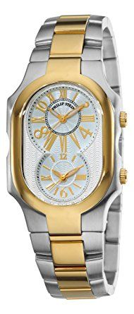 e1f4b0e780a5 Philip Stein Unisex 2TG-MWG-SSTG Signature Two-Tone Gold Plated Bracelet  Watch Review