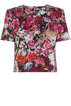 Rose Print Tee