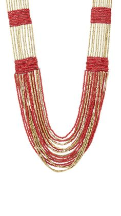 Red Boho in Soho Necklace.