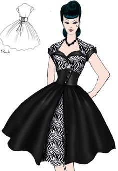 Rockabilly Sweetheart Zebra Dress by Amber Middaugh
