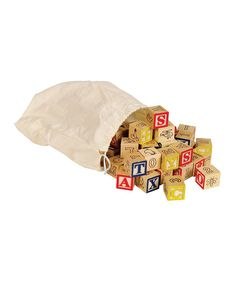 Love this Bag O' ABC Block Set by Small World Toys on #zulily! #zulilyfinds
