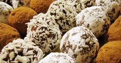 """No-Bake Booze Balls Recipe - Booze Balls"""" were traditional holiday treats in my family, and I love them (we'd make """"No-Booze Balls"""" with orange juice for the kids). Holiday Treats, Christmas Treats, Holiday Recipes, Vegan Christmas, Christmas Brunch, Holiday Foods, Christmas Candy, Christmas Desserts, Christmas Eve"""