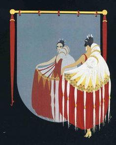The mirror - (Erté (Romain De Tirtoff))