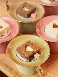 Tea party sandwiches - use mini cookie cutters to make your own tea sandwiches Tea Party Sandwiches, Finger Sandwiches, Kinds Of Cookies, Tea Party Birthday, Boy Birthday, Afternoon Tea Parties, Snacks Für Party, My Tea, Cake Pops