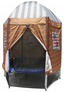 Tr&oline tent in 3 designs with removable walls Dome roof waterproof and UV Treated.  sc 1 st  Pinterest & Trampoline Tent: The Ultimate Cubby House - Thunder Trampoline ...