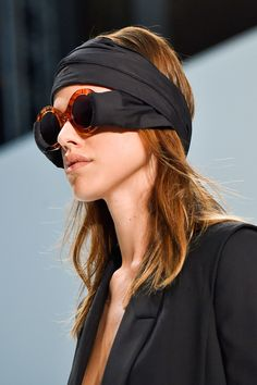 hussein chalayan scarf-sunglasses