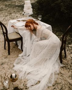 Simone dress by Flora I Flora I Flora bridal I off the shoulder I boho chic wedding dress I romantic sheath gown boho chic | white dress | wedding | vintage | classy I real brides I happy moment