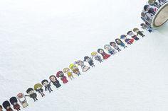紙膠帶分裝(50cm)~日本 ROUND TOP 一代 歐洲人物