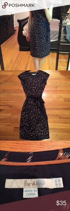 Boden's animal print dress, size 4.  Worn once! Boden's animal print dress, size 4. Perfect for work or summer outings.  Worn once! Boden Dresses Midi
