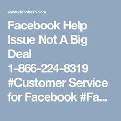 Facebook Help Issue Not A Big Deal 1-866-224-8319 #Customer Service for Facebook #Facebook customer service #Facebook customer care #Facebook Hacked Account  #Facebook Customer service Number  To recover you lost the Facebook account password, approach our troubleshooters right now through our toll-free Facebook account. No Facebook Help issue is too tricky too deal at our troubleshooting premises. Our all-time service is the best alternative to sort out all your worries in a cost-effective…