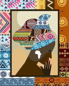 African Woman  African Print African Wall Decor by iQstudio