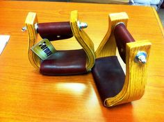 """Formay 3""""Oak Wood Bell Stirrups with Curve /3"""" Neck 3""""Tread  #formay"""