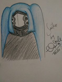 Saiko, Tokyo Ghoul :re. I don't know if the marking white line on saiko's mask was right and the color, so....