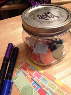 The memories jar for 2012