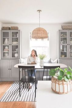 Ikea Dining Room, Banquette Seating In Kitchen, Kitchen Ikea, Dining Room Windows, Dining Room Storage, Dining Nook, Dining Room Design, Built In Dining Room Seating, Dining Room Cabinets