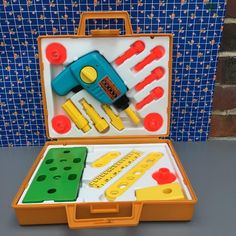 Orangevertevintage — Caisse A Outils Fisher Price Vintage Tool Kit