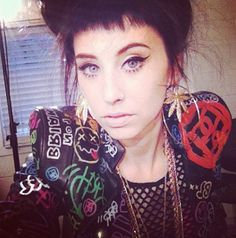 Kreayshawn! Gotta try and duplicate this jacket. Possibly a DIY?