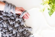 Crochet Blanket Using Arms . 32 New Crochet Blanket Using Arms . How to Make A Chunky Knitted Blanket Knitting Blankets with Finger Knitting, Arm Knitting, Knitting Patterns, Giant Knitting, Crochet Patterns, Crochet Ideas, Finger Crochet, Crochet Stitches, Oversize Knit Blanket