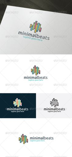 Minimal Beats Logo by shaoleen • Fully Editable Logo • CMYK • AI, EPS, PSD, PNG files • Easy to Change Color and Text