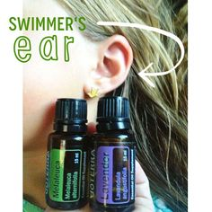 """SO this girl spent 9 hours a day in the pool last week and she has been complaining of an earache the last few days. We have doused her with melaleuca and lavender for 3 days and this morning she said """"doesn't hurt mom!"""" Apply 2 drops each on a cotton ball, rub behind and around affected ear. Place cotton ball gently inside ear while resting. *never drop oils directly down the ears. Repeat every 3-4 hours. #swimmersear #pain #earache #naturalmedicine #essentialoils #oilrn"""